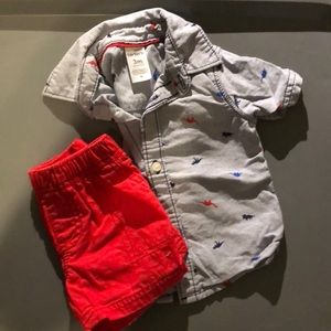 2-piece shirt and shorts set